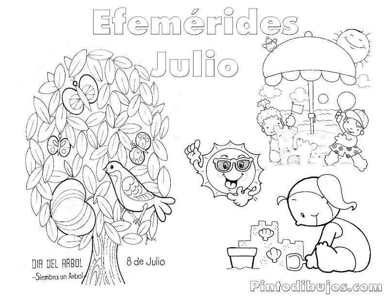 Dibujos Para Colorear De Julio