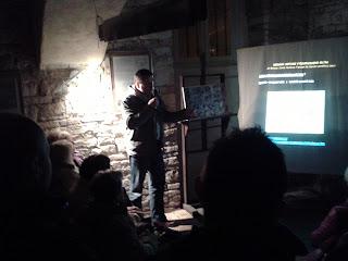 Jan Beránek (NPÚ)zahajuje přednášku