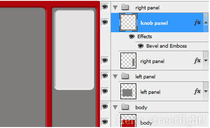 Knob panel with layer style.