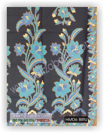 Gambar Kain Batik, Kain Batik Murah, Baju Batik, HM06 BIRU