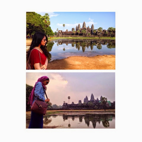 Shea Sonia and Hajar in Angkor Wat