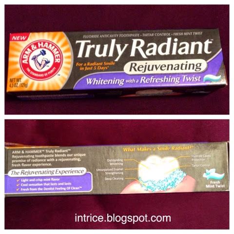 Arm and Hammer Truly Radiant Rejuvenating Toothpaste -- photo credit: intrice.blogspot.com