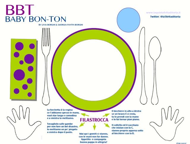 La quinta fetta di torta bbt baby bon ton - Le regole del bon ton a tavola ...