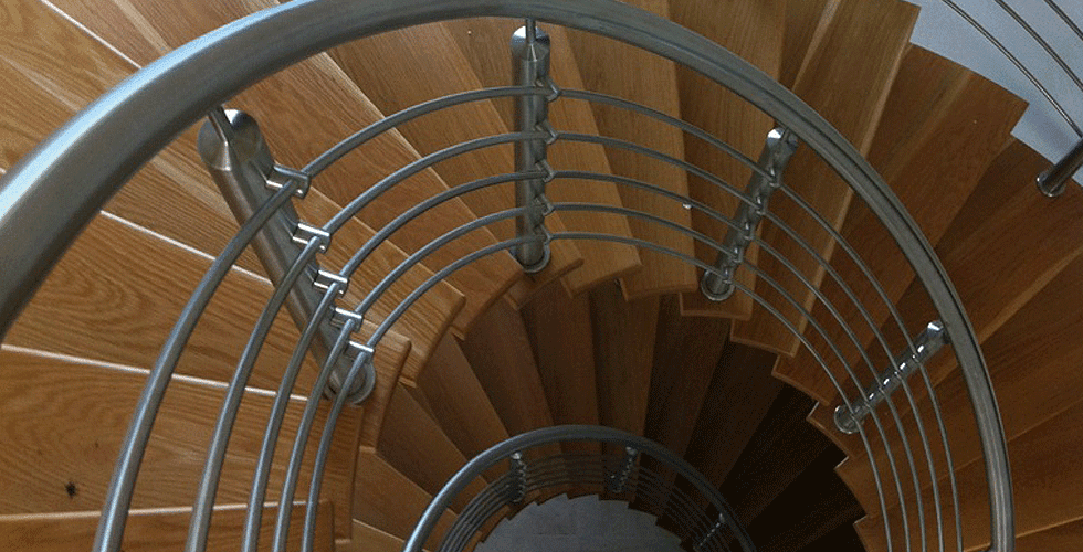 Modern Spiral Staircase by DMC Architects