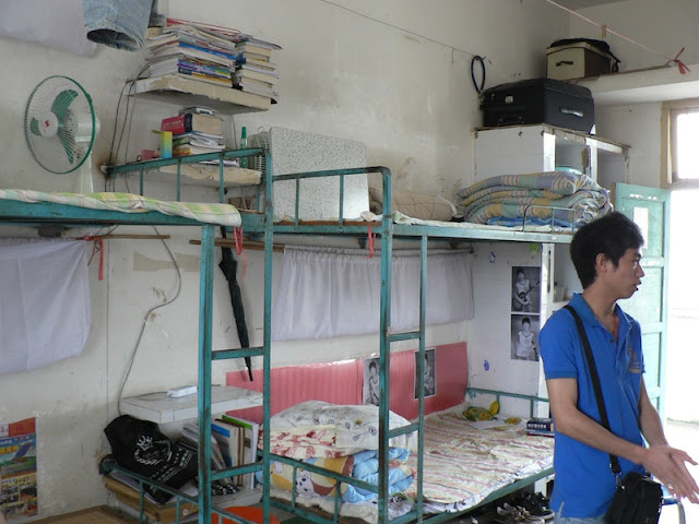 dorm beds at the Guangxi Normal University for Nationalities in Longzhou, China