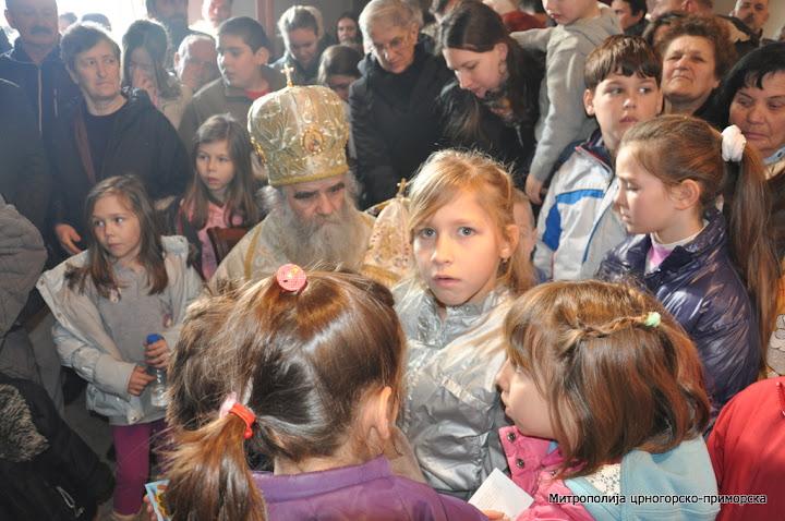 Празник Светог Саве Српског литургијски прослављен у Митрополији Црногорско-приморској