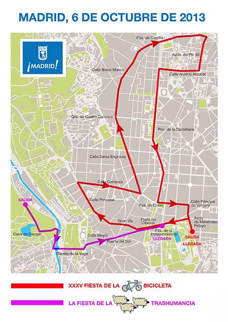 Cortes de tráfico el domingo por las Fiestas de la Bici y de la Trashumancia