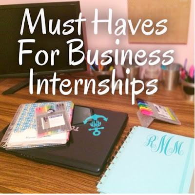 My Organization Must Haves For Internships