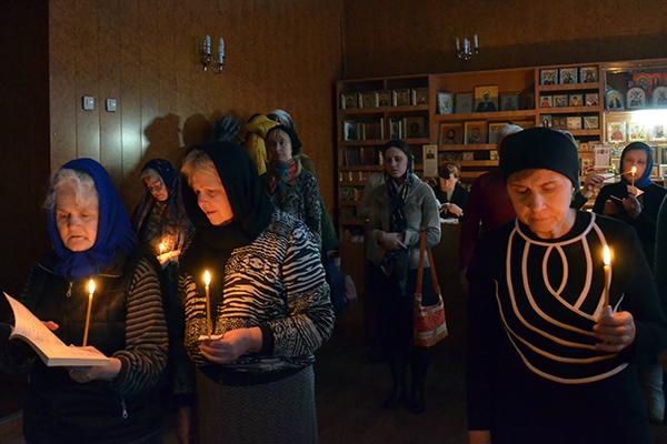 Чтение Великого канона свт. Андрея Критского в храме Димитрия Донского г. Иркутска