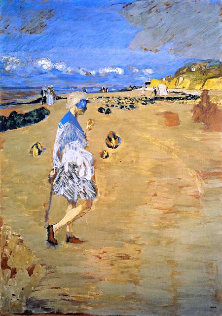 Édouard Vuillard - Annette on the Beach at Villerville