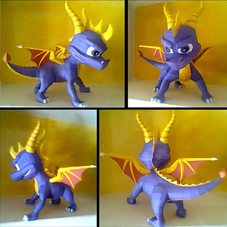 Spyro the Dragon Papercraft
