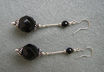 BLACK ONYX - kolczyki dla miłośniczek stylu retro