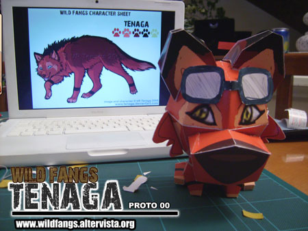 Wild Fangs Papercraft Tenaga Paper Toy