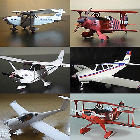 Biplane Monoplane Papercrafts