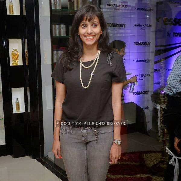 Sunaina at the launch of salon 'Essensuals', in Chennai.