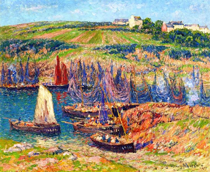 Henry Moret - Sardine Fishermen at Douelan, 1909
