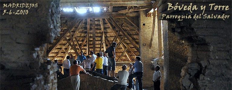 Visita a la bóveda y torre de la Parroquia del Salvador, para ver su estado con los constructores