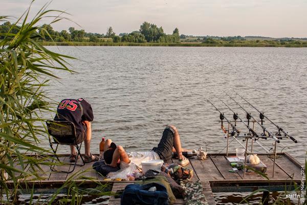 Компаньйони активно ловлять рибу