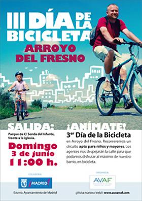 3º Día de la Bicicleta en Arroyo del Fresno. Domingo 3 de junio