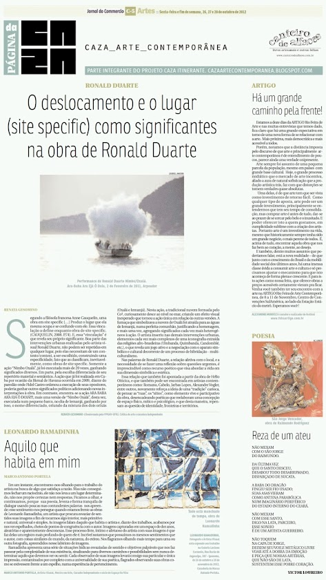 Página da Caza - 26 de Outubro de 2012