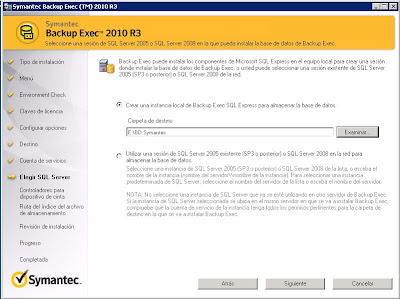 Instalar Symantec Backup Exec 2010 R3 en Windows Server 2008