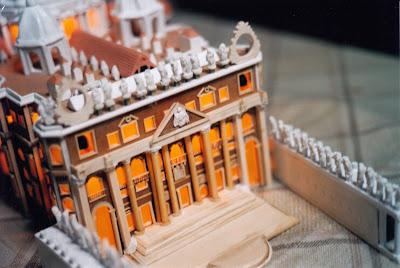 Dettaglio Basilica di San Pietro in miniatura