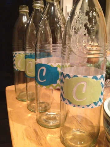 Coconut Love Custom Water Bottle Labels With Silhouette Cameo