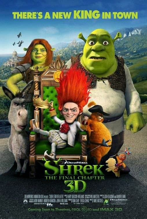Poster Of Shrek Forever After (2010) Full Movie Hindi Dubbed Free Download Watch Online At Alldownloads4u.Com
