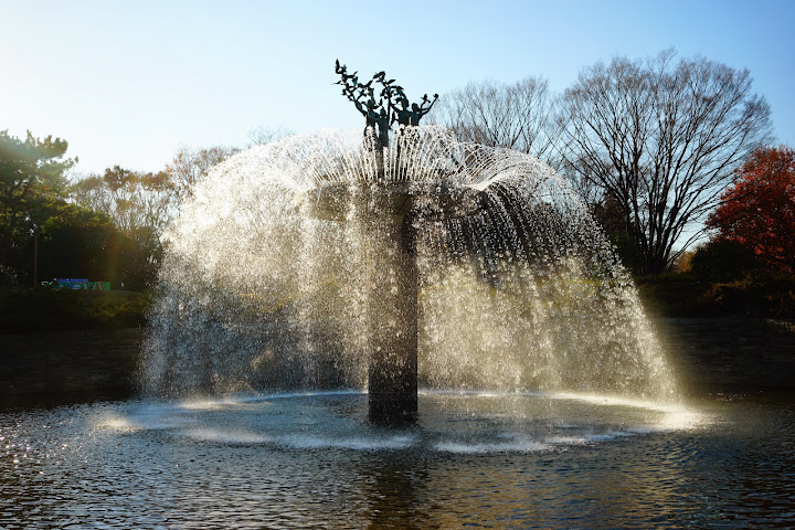 showa kinen park fountain