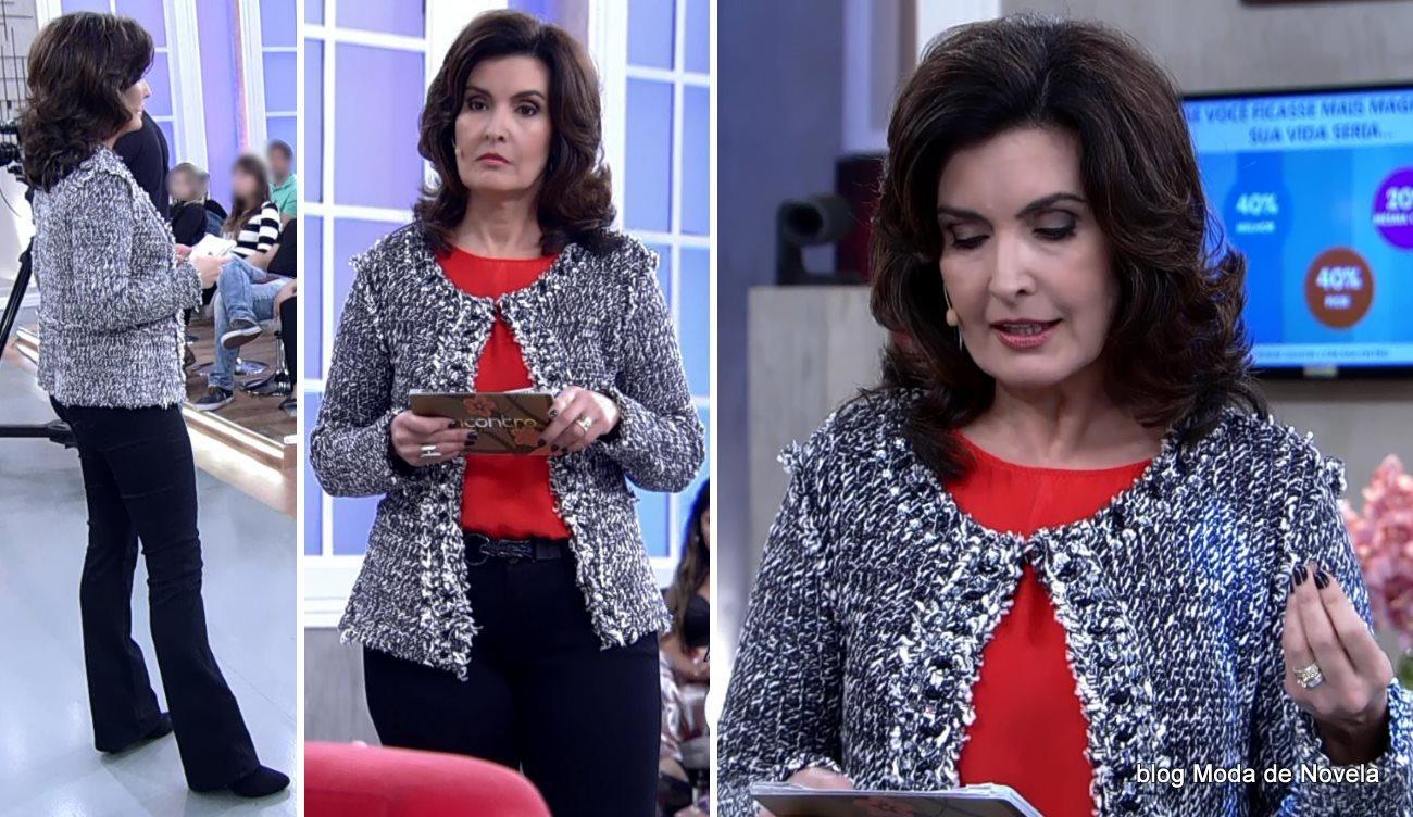 moda do programa Encontro - look da Fátima Bernardes dia 28 de julho