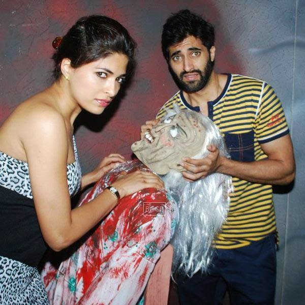 Parvathy Omanakuttan and Akshay Oberoi during the promotion of Bollywood movie Pizza, held at Malad, on July 11, 2014.(Pic: Viral Bhayani)