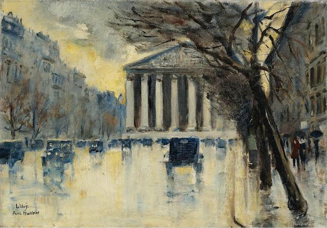 Lesser Ury – La Madeleine, 1928