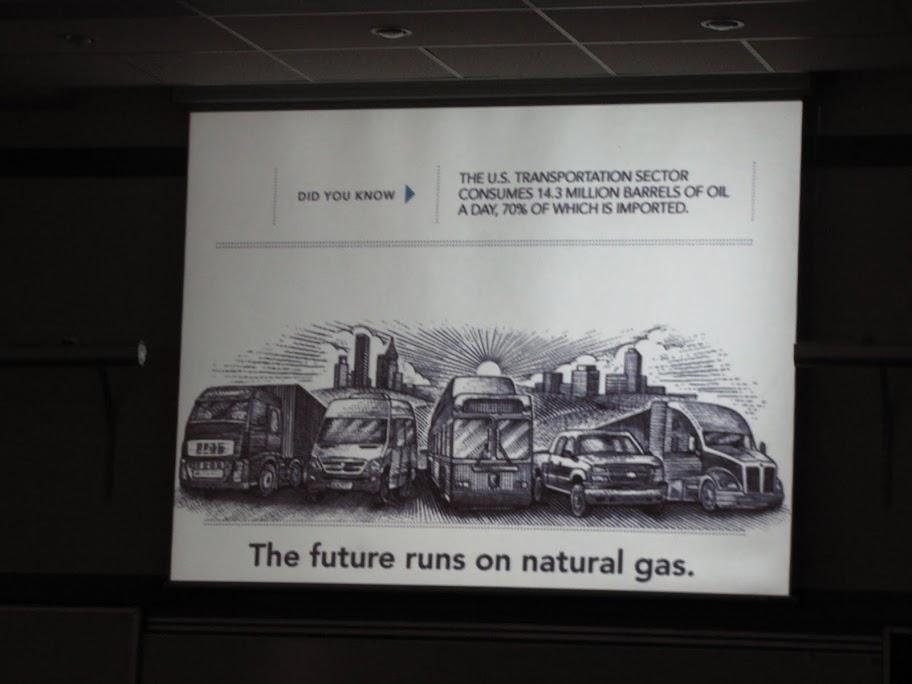 Jeden ze slajdów prezentacji prof. Piotra Moncarza, South Baltic Gas Forum 2011