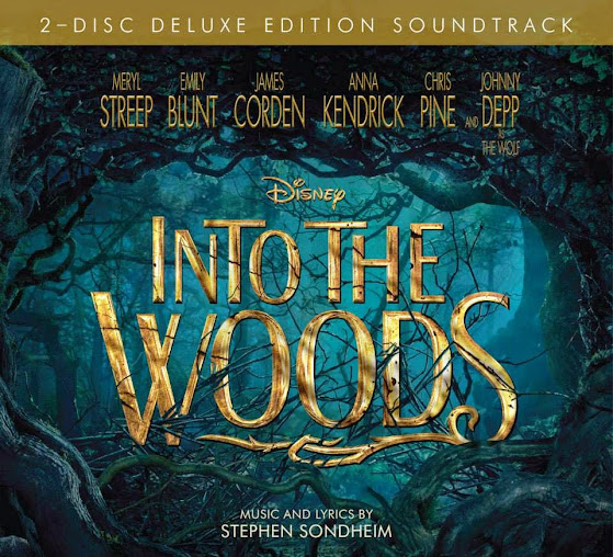 Destined to be a Disney music classic: the Into the Woods soundtrack 2-disc deluxe edition with music and lyrics by Stephen Sondheim