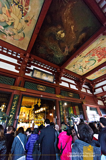 The Intricate Interiors of Asakusa's Sensoji Temple