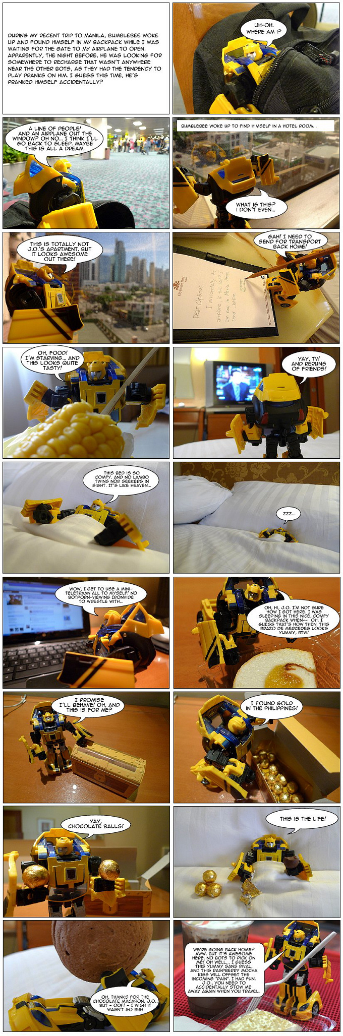 bumblebee's hotel room journal - my toys are alive 11 transformers fan comics