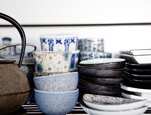 Ceramics collected and styled by Claire Lefort of Noro