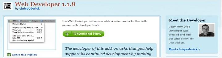 trinh duyet web developer