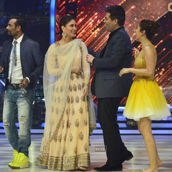Remo, Kareena Kapoor and Karan Johar on the sets of Jhalak Dikhhla Jaa 7.(Pic: Viral Bhayani)