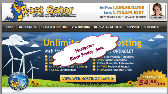 Hostgator Black Friday Discount 2012