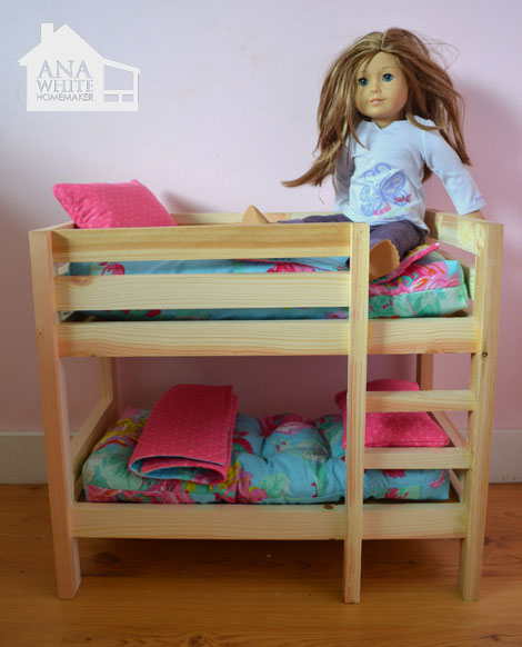 The Birthday Girl has been talking quite a bit about getting her first  American Girl doll, so Grace and I thought we'd make her a bunk bed.