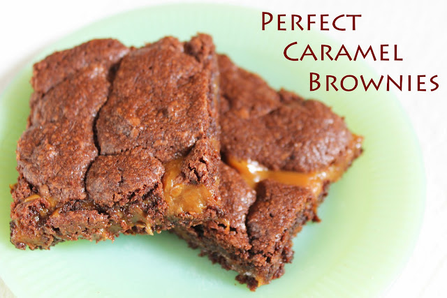 perfect caramel brownies