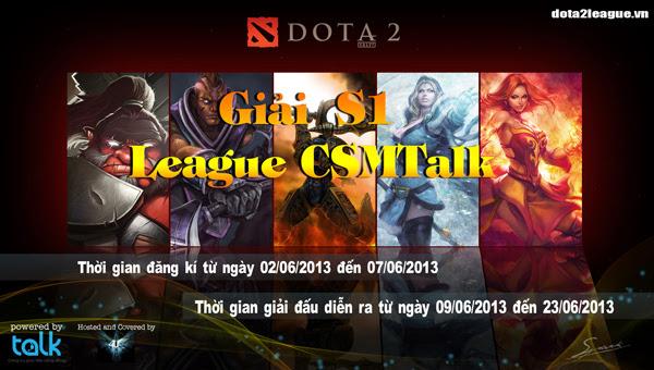 CSM Talk là nhà tài trợ của giải đấu S1 League 2