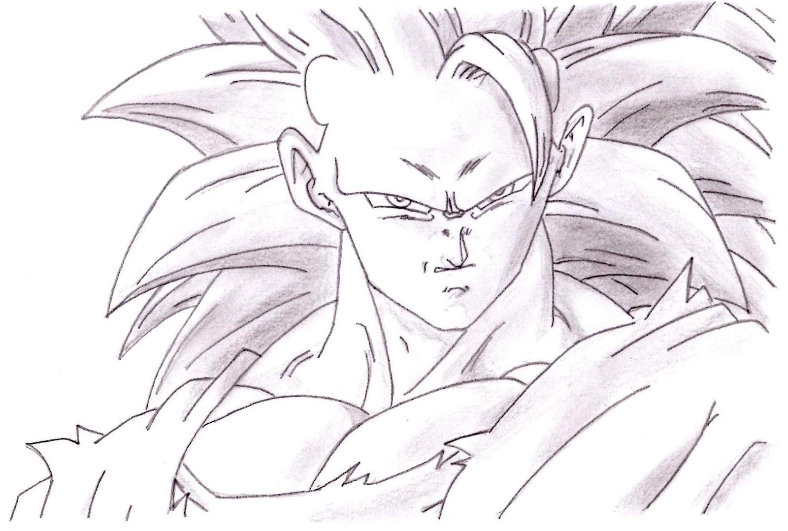 Imagenesde99 Imagenes De Goku Para Dibujar A Lapiz Faciles