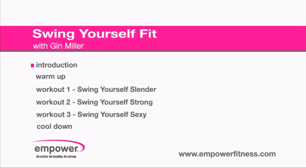 Swing Yourself Fit menu