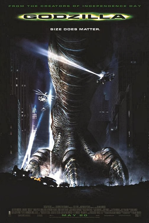 Poster Of Godzilla (1998) Full Movie Hindi Dubbed Free Download Watch Online At Alldownloads4u.Com