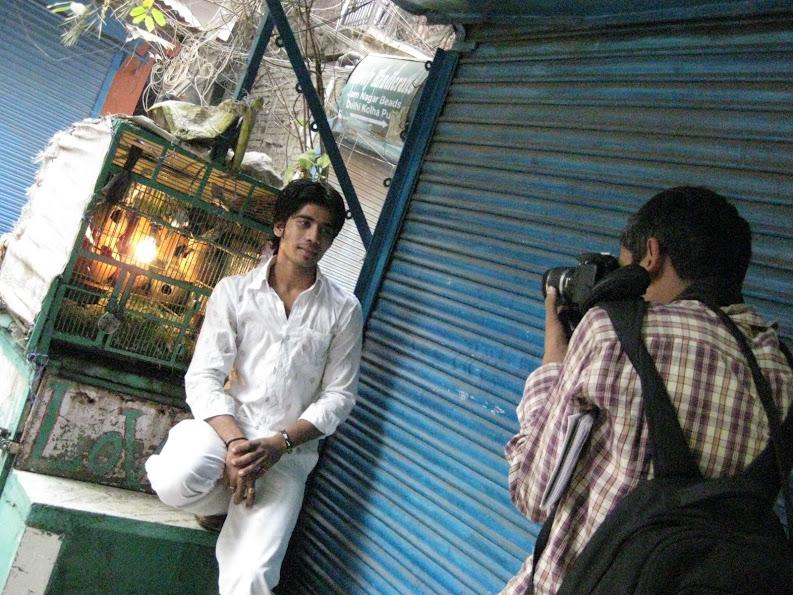The Delhi Walla taking photos