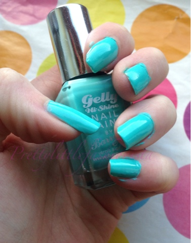 Barry M Gelly Hi Shine in Greenberry Swatch