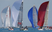 J/111 one-design sailboats- sailing with spinnakers