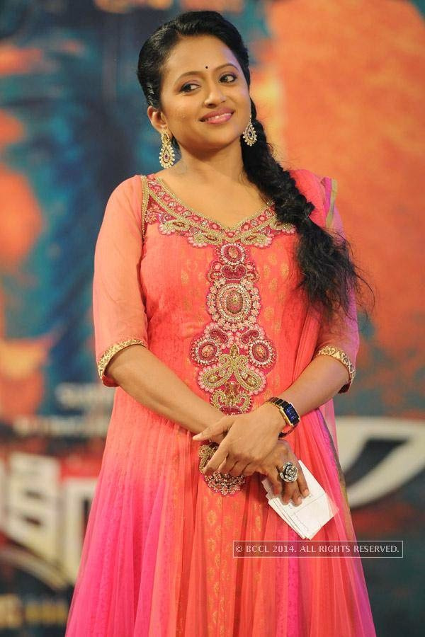 Suma during the audio launch of a film in Hyderabad.